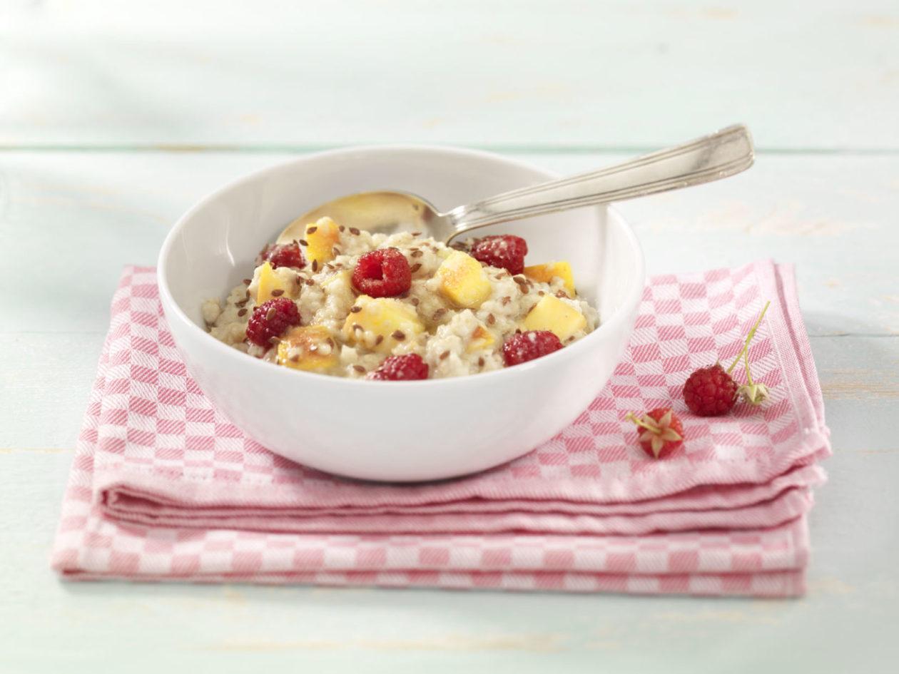 Himbeeren Nektarinen Porridge 0001