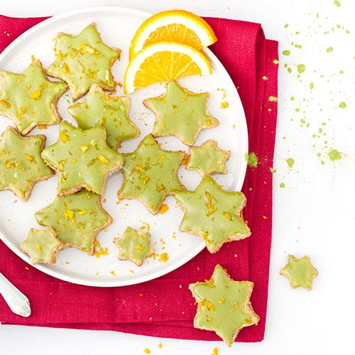 Matcha Orangen Sterne