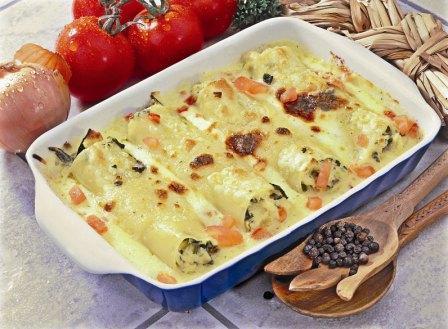 Cannelloni mit Mangoldfüllung - BCM Diät Rezepte.at