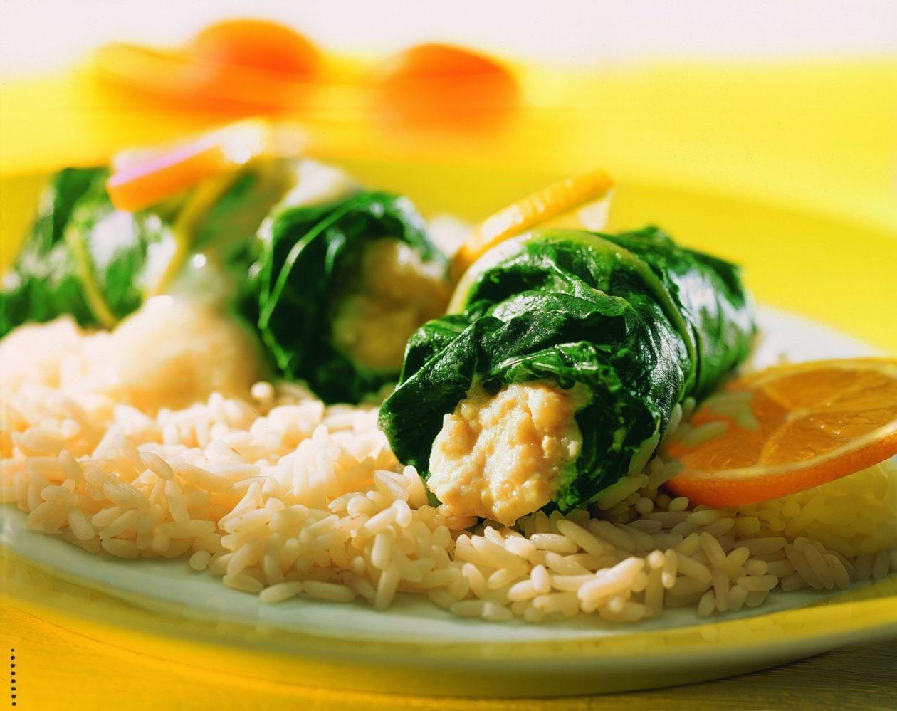 Fischröllchen in Mangold - BCM Diät Rezepte.at