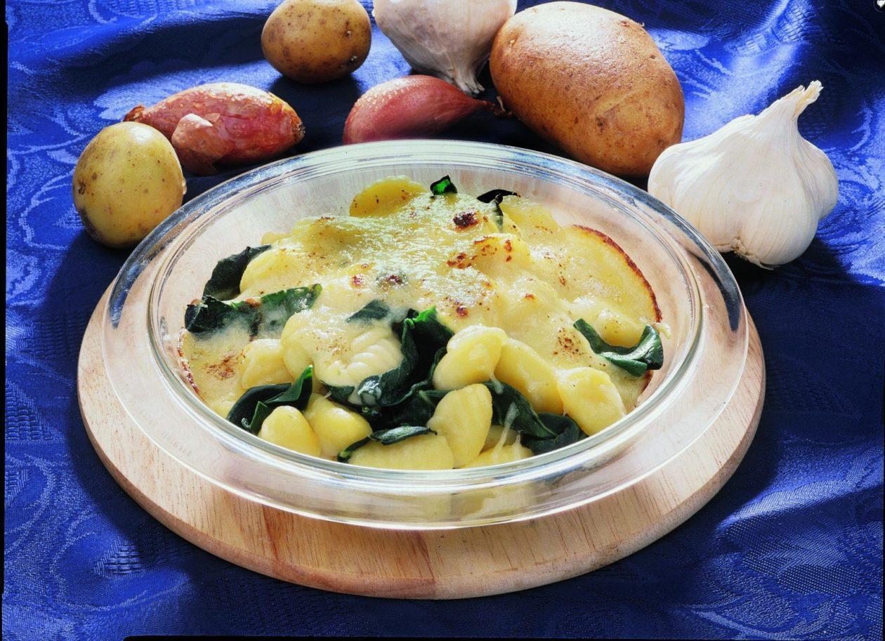 Gratinierte Gnocchi auf Spinat - BCM Diät Rezepte.at