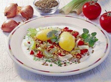 Pellkartoffeln mit Grünkern - BCM Diät Rezepte.at