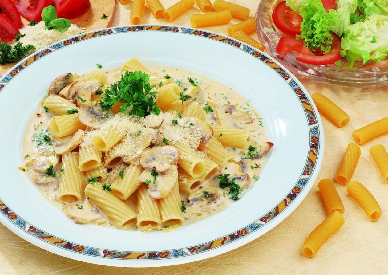 Rigatoni mit Pilzen - BCM Diät Rezepte.at
