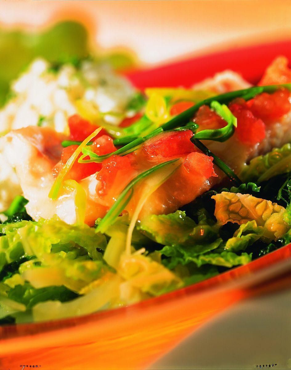 Rotbarschfilet auf Wirsing - BCM Diät Rezepte.at