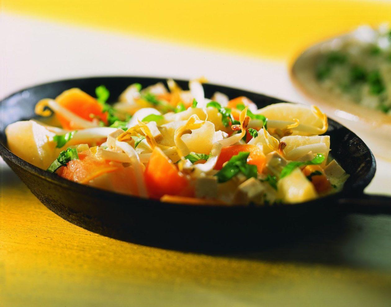 Rübchenpfanne mit Tofu - BCM Diät Rezepte.at