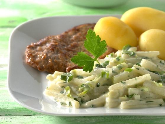 Kalbsschnitzel mit Kohlrabigemüse - BCM Diät Rezepte.at