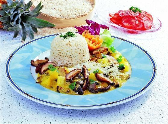 Reisteller mit Shii-Take-Pilzen - BCM Diät Rezepte.at