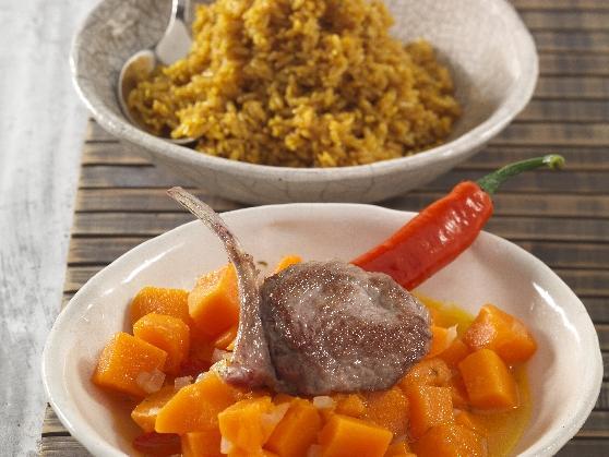 Lammkotelett auf Kürbis und Sesamreis - BCM Diät Rezepte.at