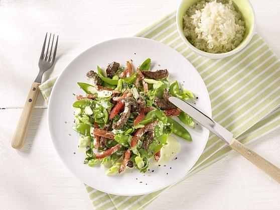 Leichte Sommerpfanne mit Rindfleisch - BCM Diät Rezepte.at