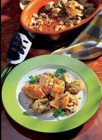 Hühnerbrust mit Artischocken und Pilzen - BCM Diät Rezepte.at