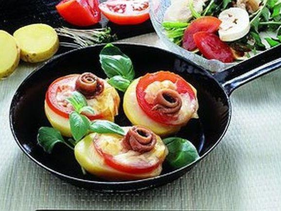 Kartoffelhälften mit Tomaten - BCM Diät Rezepte.at