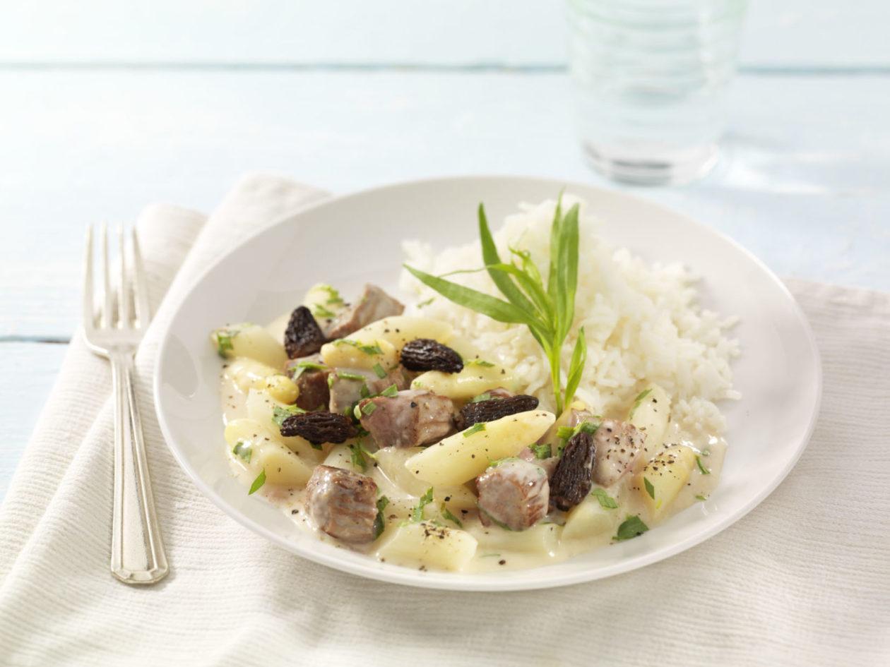 Kalbsragout in Weißweinsauce - BCM Diät Rezepte.at