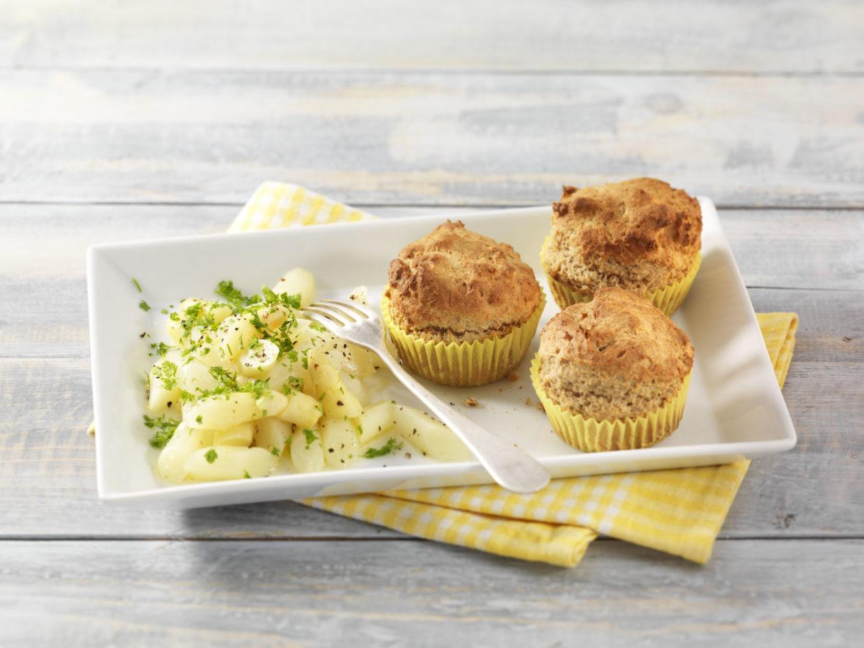 Parmesan-Muffins mit Spargelsalat - BCM Diät Rezepte.at