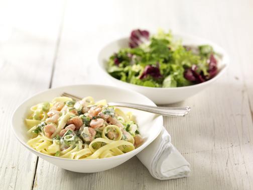 Tagliatelle mit Krabben in Zitronensauce - BCM Diät Rezepte.at