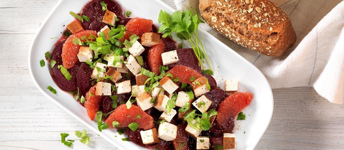Rote-Bete-Salat mit Grapefruit und Räuchertofu - BCM Diät Rezepte.at